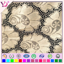 Voile Fabric Type and 100% Cotton Material Velvet Lace