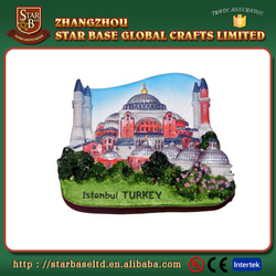 New arrival custom resin hand paint istanbul turkey promotional fridge magnet
