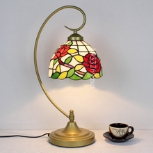 best sale tiffany table lamp with flowers shades to decorate the coffee house