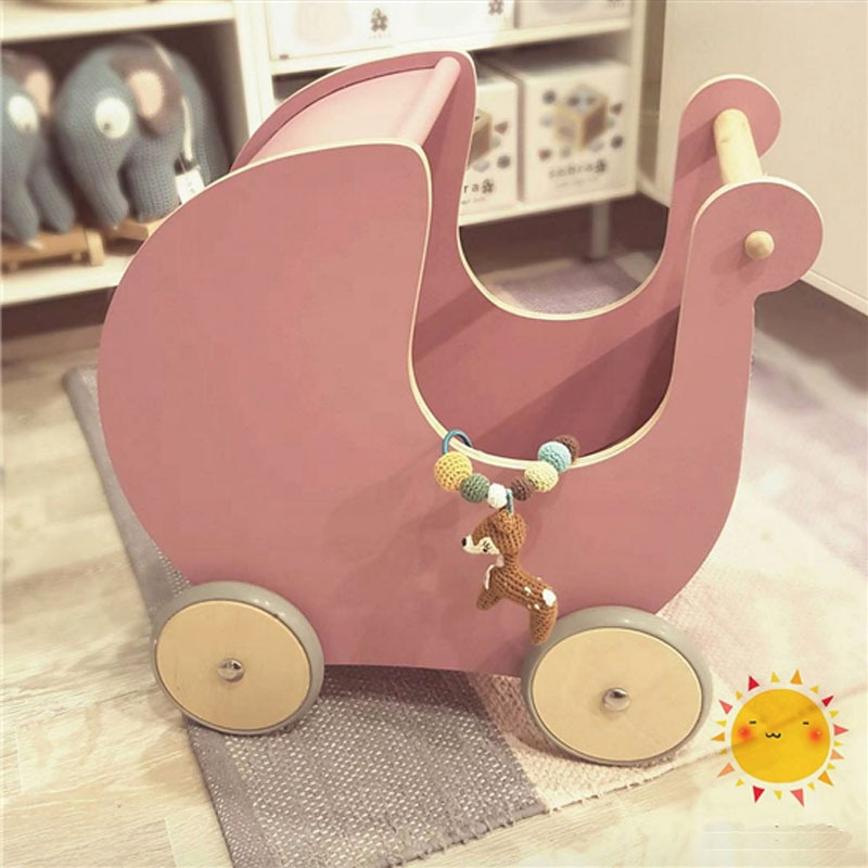 WDP001German Brand wooden Doll prams and baby walker 2 in 1 for the kids playing and educataion <strong>toys</strong>