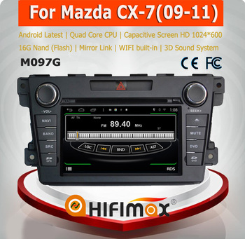 HIFIMAX Android 4.4.4 car radio dvd gps navigation for Mazda CX-7 WITH Capacitive screen+HD1024*600 Resolution
