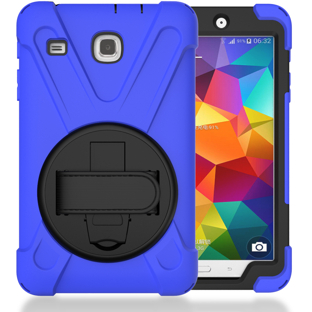 Heavy Duty Case For Samsung Galaxy Tab E 8.0 Rugged Case With Kickstand T377 T375