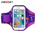Haissky new funny pattern colorful printing Lycra sports mobile armband for iPhone 6plus