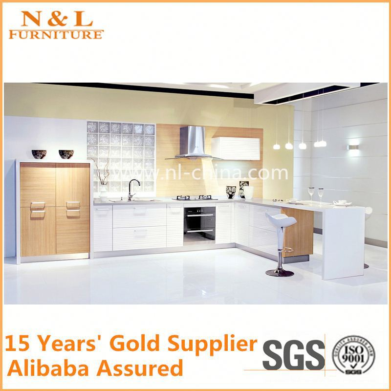 Glossy Kitchen Cabinet/bespoke modular kitchen cabinet color combinations Laminated Kitchen Cabinets