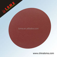 abrasive velcro sanding disc red color