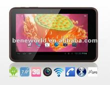 "7"" tablet pc 3g phone call / gps / wifi/ bluetooth mtk6575 chipset"