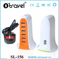 Mobile phone accessories manufacturer 6 port usb charger