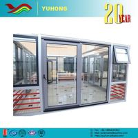 China manufacturer high performance grill design low-E lock automatic sliding glass door