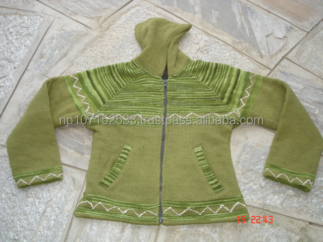 woolen jacket with polar fleece lining