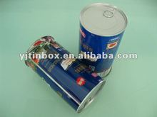 round tin plate soft drink can with ring pull
