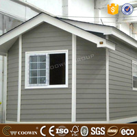 Long service lifetime hard wood composite WPC wall panel prefab house