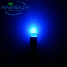 Round top 3mm Diffused 12v DC 20 cm Pre-Wired Blue LED Diode Wide Angle Lights Bulbs Lamp leds for car DIY