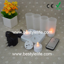 Westek Lighting rechargeable tea lights with remote