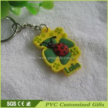Custom Design Rubber/2D Custom Shape Soft PVC Keychains / 2D 3D Rubber Keyring