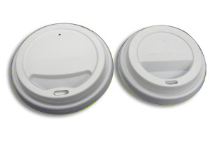 Compostalbe pla lid & Biodegradable hot drinking cup Lid