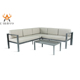 U-micco modern outdoor garden aluminum functional sofa set