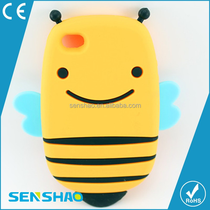3D Silicone Honeybee shape phone case for iphone 6
