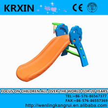 kids plastic mini slider with basketball stand