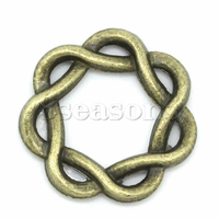 Wholesale Jewelry Rings For Connectors/Pendants Findings Antique Bronze Twist
