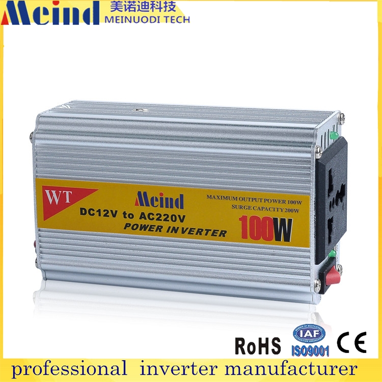 High quality 100 watt 12v 220v <strong>dc</strong> to ac car power portable inverter