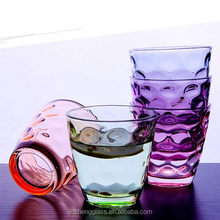 Colorful Vintage office water cups drinking water glass set for Milk