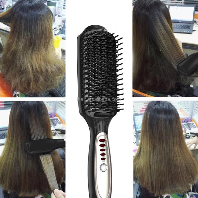 New Style High Quality Hair Straightening Brush Hair Brush Iron OEM