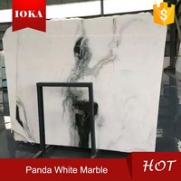 Chinese Panda White Marble Stone With Girl Image