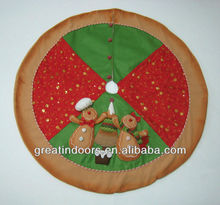 gingerbread man family Christmas tree skirt