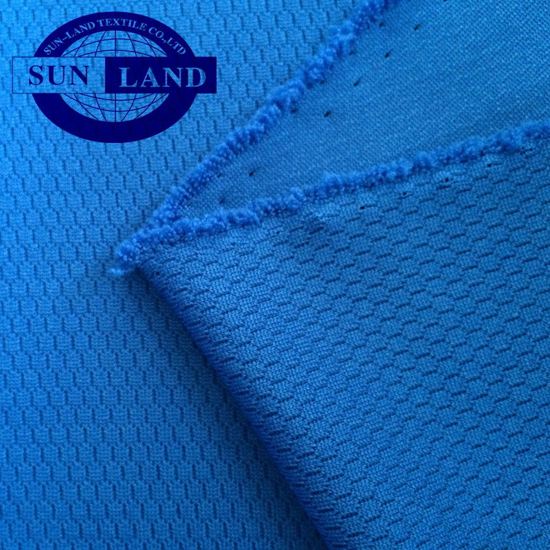 fashion sportswear training suit clothing 100% polyester 3D knitted wicking breathable honeycomb mesh fabric