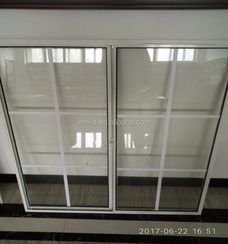 PVC and aluminium interior decorative sliding windows and doors