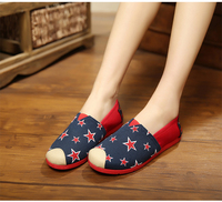 Wholesale fashion design new style summer women flat shoes,canvas casual shoes for women