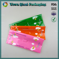 High quality colorful printing baby wet tissues side gusset plastic packing bag