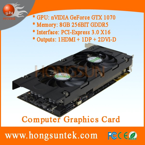 OEM NVIDIA GeForce GTX 1070 8GB GDDR5 PCI Express 3.0 Direct X12 Gaming Video Graphics Card for Cryptocurrency Mining Farm