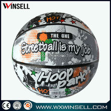 Hot sale promotional rubber basketball size 2