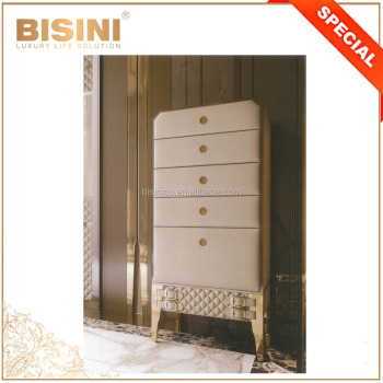 Bisini NEW Home Furniture Chest of Five Drawers, Fashion Quilting Design Five Drawers Chest/ Armoire with Drawers