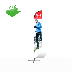 door or outdoor portable promotional flags and banners