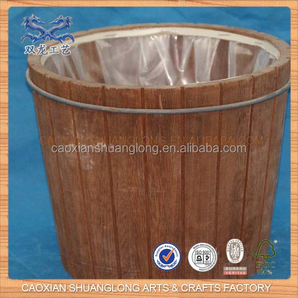High Quality Mini Old Antique Wooden Water Bucket