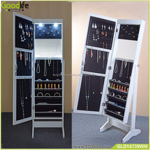 Full length floor standing mirror jewelry cabinet with light for amazon in mail box