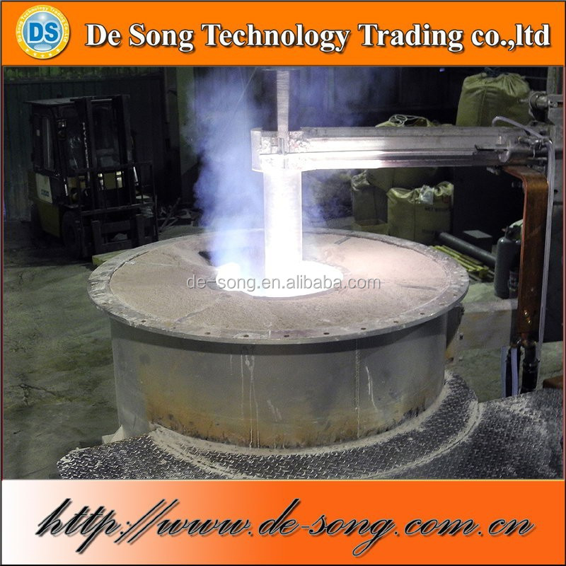 Electric DC arc furnace submerged arc furnace for ore melting