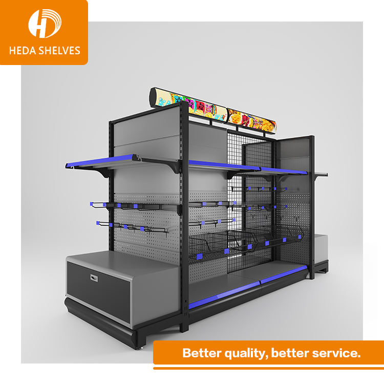 standard quality supermarket wall shelves four sided display gondola from CE <strong>manufacturer</strong>