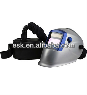 air purifying auto darkening welding helmet with respirator