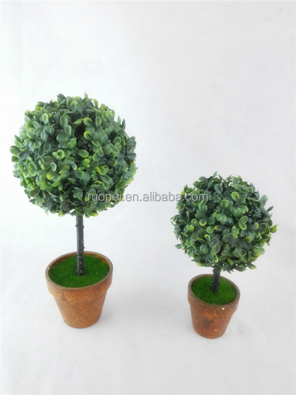 Table decoration artificial topiary boxwood plant bonsai