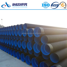 Plastic drainage pipe hdpe double wall corrugated pipes 300mm SN8