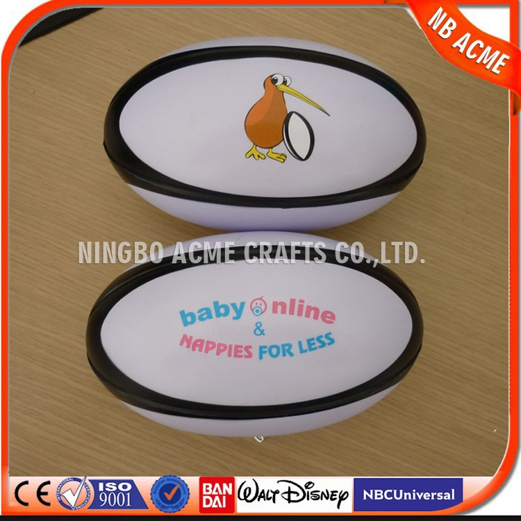 2016 Promotional Item cheap Round PU Stress ball,rugby stress ball