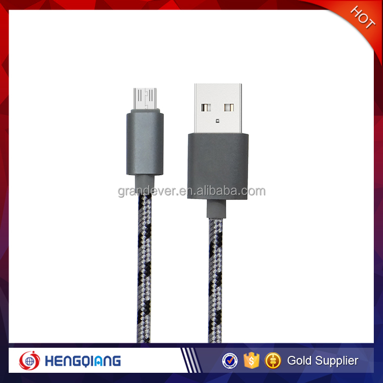 nylon braided Micro usb data cable for Android