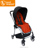 2016 Luxurious aluminum doll baby prams with crude rubber wheels & large roomy saving basket for essentials