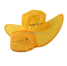 2013 fashion polyester foldable cap/hat in a pouch for promotional gift