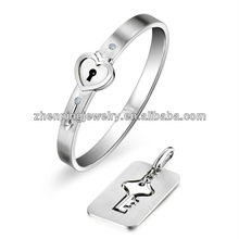 stainless steel love jewelry set