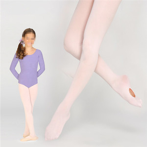 Free Sample Free Shipping Professional Kids Pink Dance Tights Ballet Tights with Hole