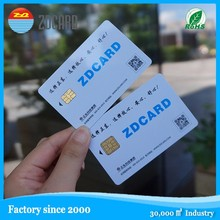 blank 4428/5528 compatible full color print contact smart card